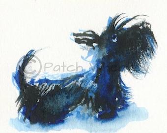 Scottish Terrier Dog Art Print Scottie Dog #126