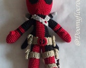 Deadpool doll crochet handmade