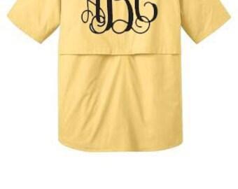 Monogrammed Fishing Shirts Short sleeve, Bathing Suit cover up