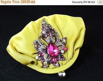 SALE 30% OFF Bridal Clutch, Gold Fuchsia Crystal Bridal Clutch, Satin Crystal Wedding Purse, Gold Statement Bridal Clutch