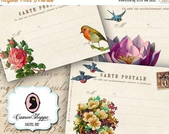 75% OFF SALE A Message For You Digital Collage Sheet Digital Carte Postale Postcards Digital ...