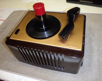 Restored RCA 45-ey-2 record player...excellent. Works like new.