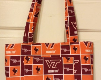 TOTEBAG made with Virginia Tech material