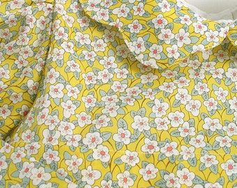 """Liberty Tana Lawn Dress made in yellow """"Ffion"""" print, for A Little Girl"""
