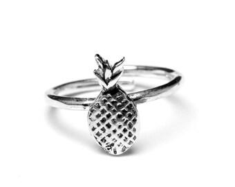 Pineapple Sterling Ring