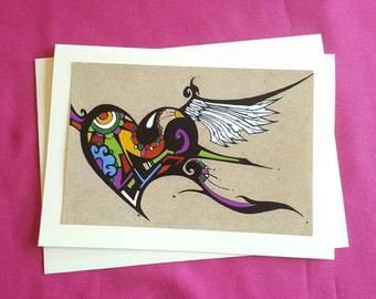 Soaring Heart - Greeting Card