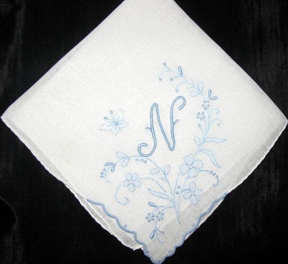 bridal handkerchief embroidered hankies bride by