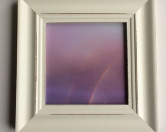 Nursery art, rainbow photo, rainbow art, purple art, purple photo, mauve, lilac, pink