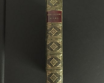 Leather bound Longfellows poems 1850