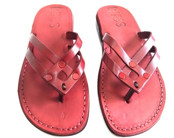 Leather Sandals, Leather Sandals Women, Sandals, Women's Shoes, QUADRO, Flip Flops, Biblical Sandals, Jesus Sandals