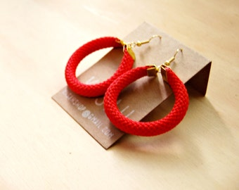 Hoola Red Rope Earrings
