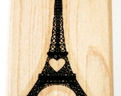 Eiffel Tower Rubber Stamp retired from Stampin Up