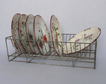 Vintage French Wire Dish Drainer, from kitchens of old