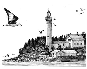 South Manitou Island Lighthouse (Print)
