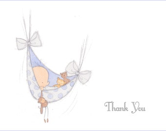 Hammock Baby Shower Thank You Notes