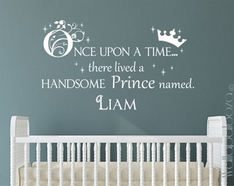 Prince Wall Decal   Once Upon A Time Wall Decal   Boys Name Custom Decal   Part 60