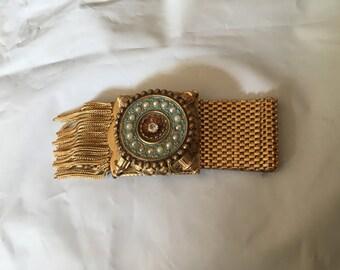 Victorian Revival Gerlou Tassel Enameled Bracelet