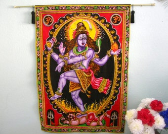 Wall Hanging HINDU LORD SHIVA - Many armed destroyer of bad things, good for shedding bad habits and creating new ones