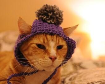 Cat Hat with Pom Pom