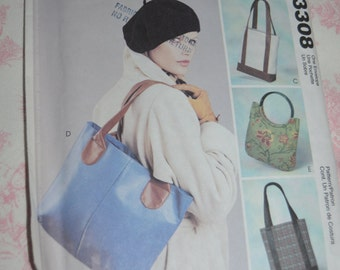 McCalls 3308 its in the bag fashion accessories Sewing Pattern - UNCUT