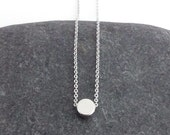 Dainty Necklace, Tiny Silver Dot, Delicate Fine Chain, Single Circle Bead, Simple Necklace, Contemporary Minimalist Jewellery