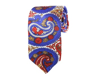 Paisley Tie. Slim Men's Neckties. Luxury Neckwear. Wedding Groomsmen Ties. Made In USA