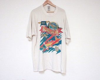 vintage airshow t shirt - large graphic tee - 90s graphic t shirt - size xl