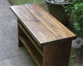 Custom Build for Danica Tall Rustic Bench Entryway Hallway Mudroom Storage Bench Shoe Bench 54 inch