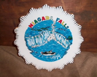 Vintage Niagara Falls Canada Travel Souvenir Dish Ceramic Trinket