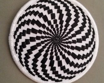 embroidered optical illusion patch