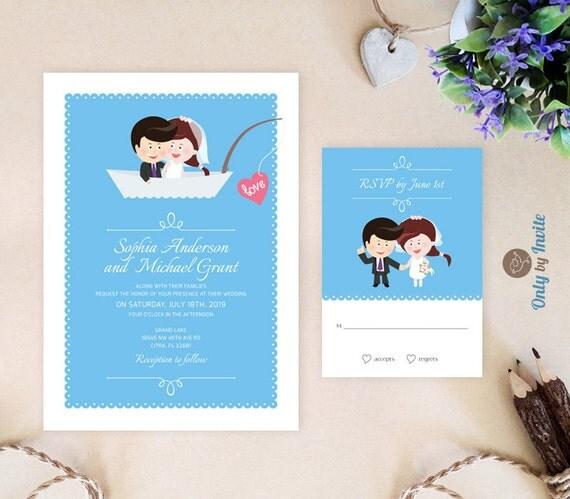 wedding invitation kits by brides fishing wedding invitation kits by onlybyinvite - Brides Wedding Invitation Kits
