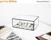 ON SALE display box with a hinged roof -  jewelry box - geometric glass box