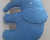 Large Blue Felt Elephant