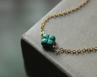 Malachite necklace,Malachite jewelry,dainty necklace,Shamrock necklace,Clover necklace gold,four leaf clover necklace,lucky charm necklace
