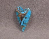 KINGMAN TURQUOISE with BRONZE Heart Shaped Cabochon