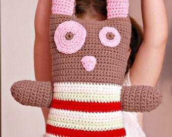 Crochet big bunny toy. New born gift. Baby shower gift. Kids toy. Amigurumi multicolor rubbit handmade stuffed animal. Birthday gift.