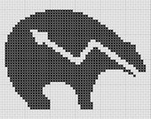 Zuni Bear Fetish Totem South West Cross Stitch Pattern PDF