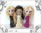 DOLL CLOTHES Lot of 3 Gowns handmade for Littlest Pet Shop BLYTHE Petite Lot #8