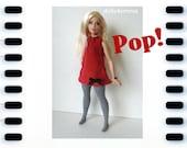 CURVY BARBIE Doll Clothes - Pop! Dress + Thigh-Highs + Jewelry - Handmade Fashion by dolls4emma