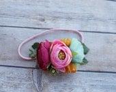 Custom floral headband
