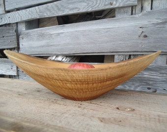 Wood fruit bowl - Wood bowl -  Carved wood bowl - Table centerpiece - Wooden bowl - Gifts for her - Anniversary gift - Wood bowls - Artwork