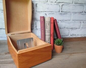 Wood File Box Vintage Seating Chart Holder Wedding Rustic Decor
