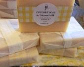 Coconut Citrus Cold Process Handmade Soap with Coconut Milk