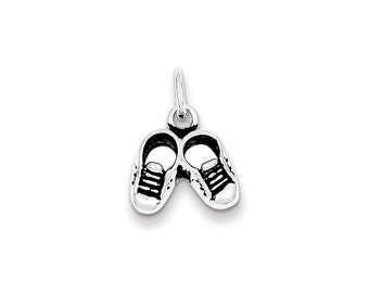 Sterling Silver Antiqued Childs Shoe Charm