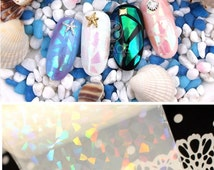 Holographic Shattered Glass Nails Nail Art Foils Wraps