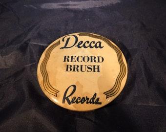 Vintage Decca Vinyl Record Brush