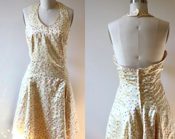 1960s disco ball swing dress // 1960s sequin dress // vintage dress