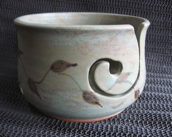 Sage Green Matte yarn bowl for knitting or crochet.....free 2/3 day shipping