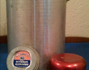 Vintage Faris Aluminum Glass Thermos Jug Rustproof - Clean