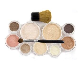 60% OFF - Mineral Makeup Set  - 12pc GETTING STARTED  - Natural Vegan Makeup